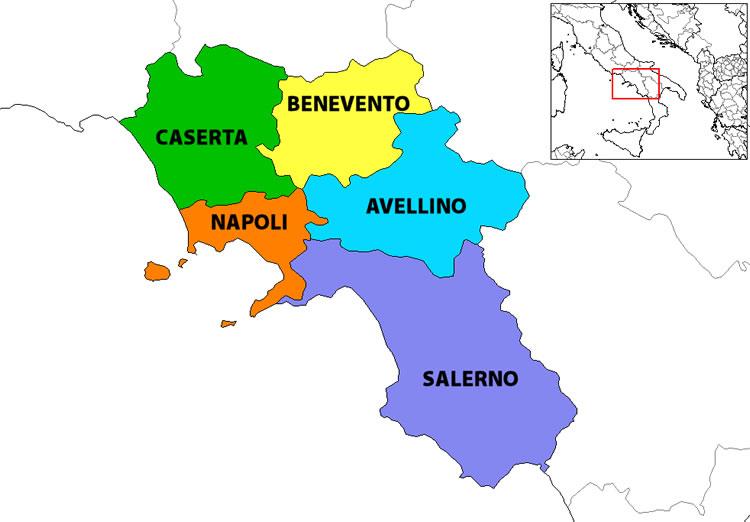 Cartina Italia Interattiva Html.Campania Mappa Concettuale