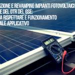Manutenzione e revamping impianti fotovoltaici alla luce del Dtr del Gse